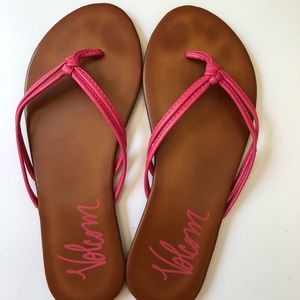 Volcom Bright Pink Sandals